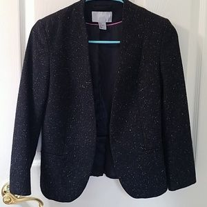 H&M peplum blazer size 4 wool blend